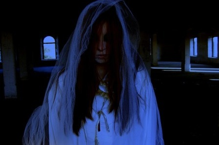 Watch out for the Blue Lady ghost at Berry Pomeroy Castle