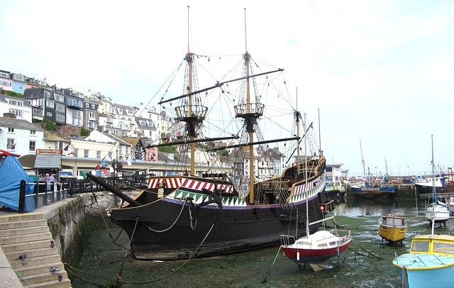 A full size replica of the Golden Hind